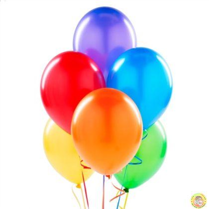 Балони металик- микс, 25см, 10бр.