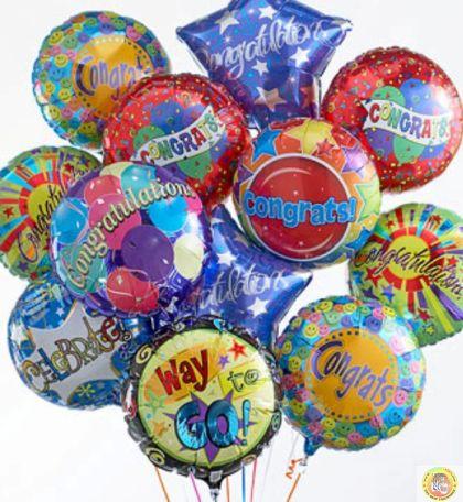 "Балон фолио - кръгъл 18""-с хелий"