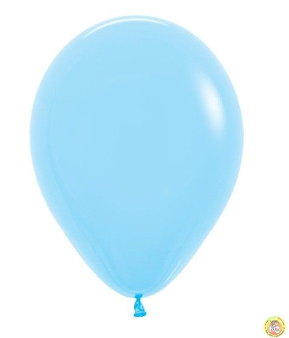 Балони металик- светло синьо, 25см, 10бр.