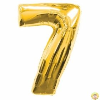 Фолиев балон цифра 7,златен - голям-80см