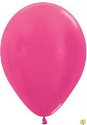 Малки кръгли балони пастел- циклама, 12см, 100бр.